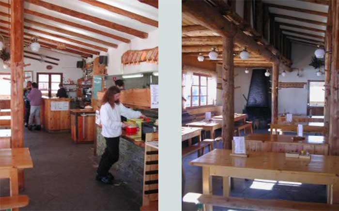 Intérieur du restaurant le Girardin
